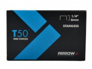 Arrow T50 Staples 6mm (1/4in) Pack 1250