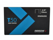 Arrow T50 Staples 10mm (3/8in) Pack 1250