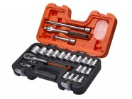XMS Bahco S240 1/2in Socket Set, 24 Piece