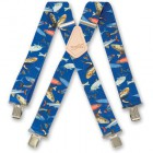 "BRIMARC BRACES ""FISHING MIXED BLUE \"" 000420"